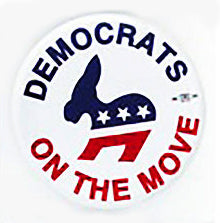 Democrats On The Move Pin