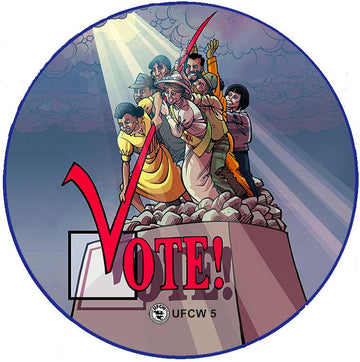 Many Sacrificed So We Can Vote Pin