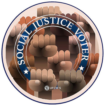 Social Justice Voter Pin