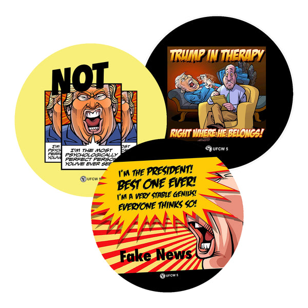 Trump In Therapy Collector Set of 3 Pins