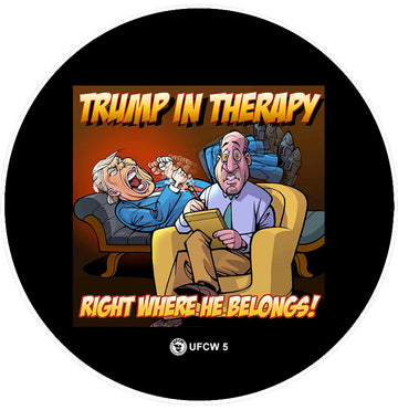 Trump In Therapy Pin