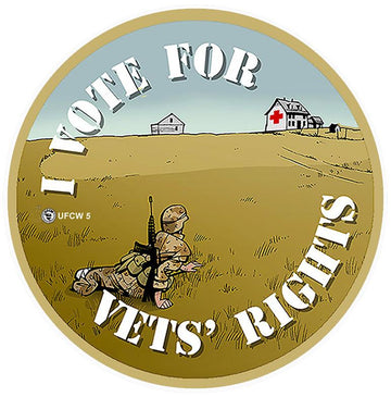 Vote For Vets Rights Pin
