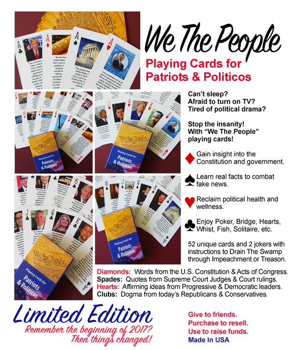 We The People Playing Cards, Limited Edition