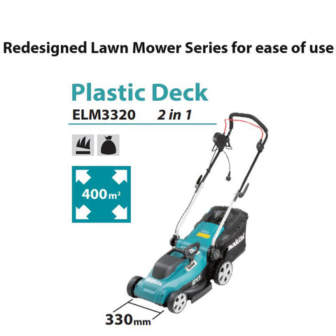 Makita ELM3320 Lawn Mower AC 330mm | Garden Tools | O' Green Living