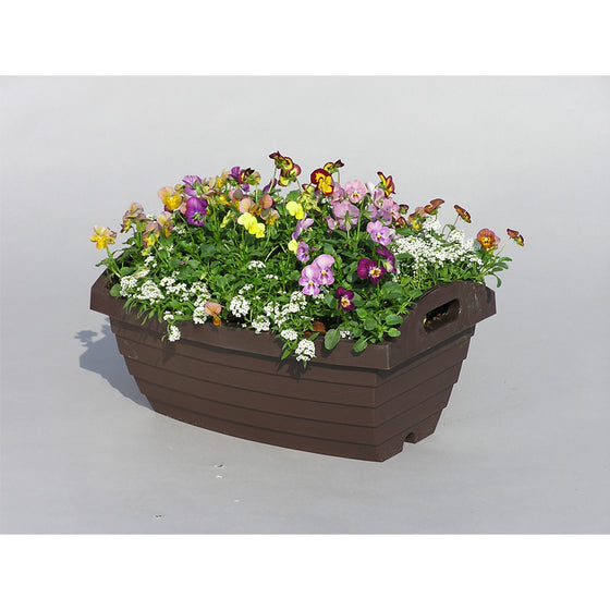 A450 Barrel Pot [Brown] - Garden Pots & Plant Pots Singapore
