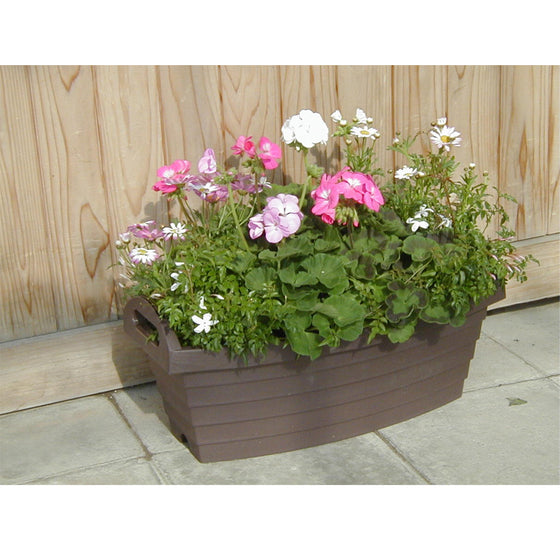 A500 Slim Barrel Pot [Brown] - Garden Pots & Plant Pots Singapore