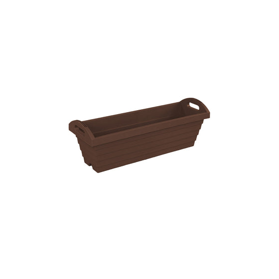 A650 Long Rectangle Pot [Brown] - Garden Pots & Plant Pots Singapore