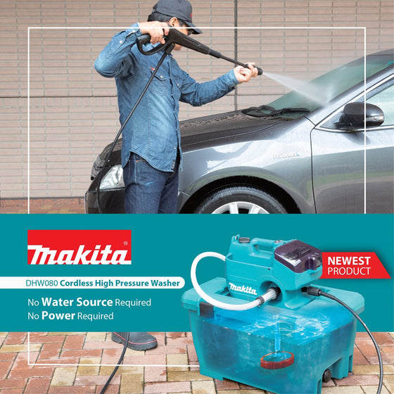 Makita MHW080D Cordless Pressure Washer 80Bar | Garden Tools