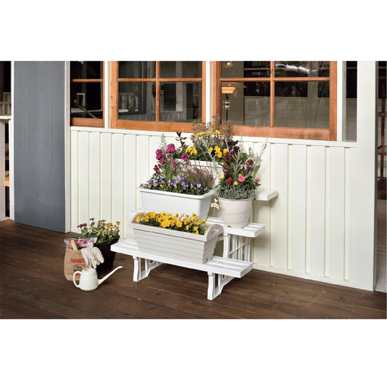 Flower Stand 900 [White] - Garden Tools & Gardening Supplies Singapore