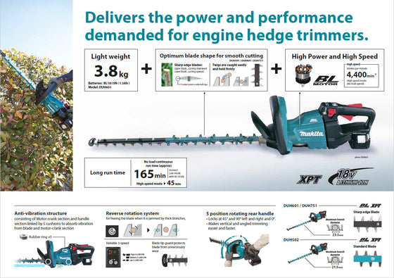 Makita DUH502Z Hedge Trimmer DC 18V 500mm