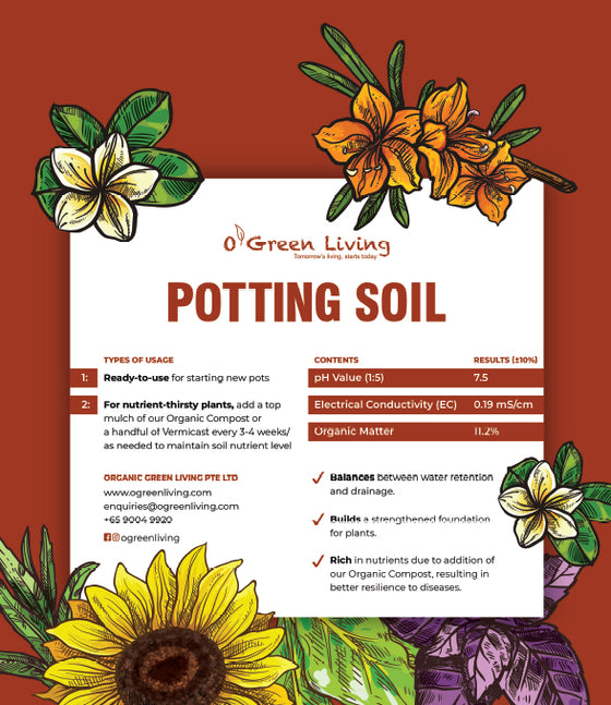 OGL Organic Potting Soil - Garden Soil Singapore