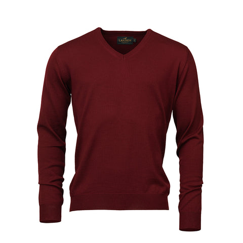 Sussex v-neck - bordeaux