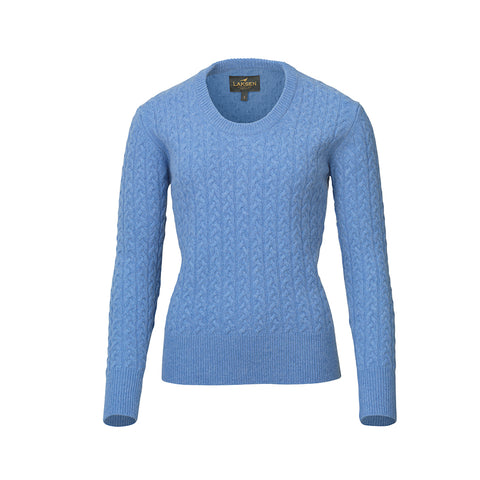 Burleigh Cable Knit Sweater - sky