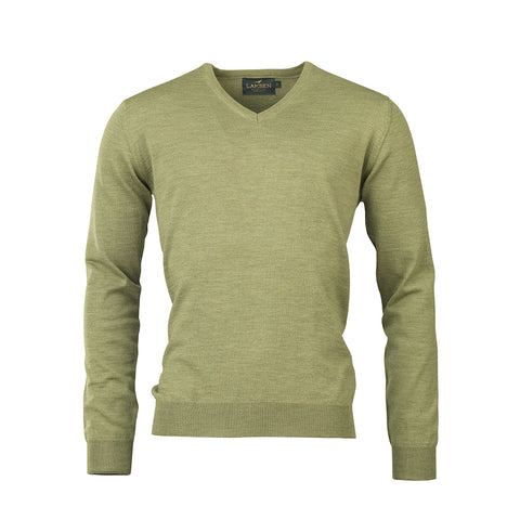 Sussex V-neck - seagrass