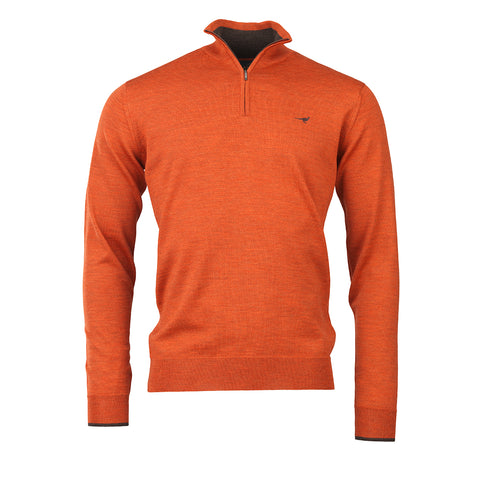Norfolk Zip Sweater - spice