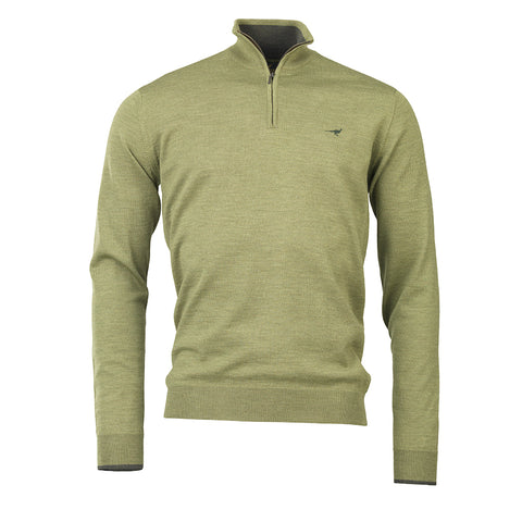 Norfolk Zip Sweater - seagrass