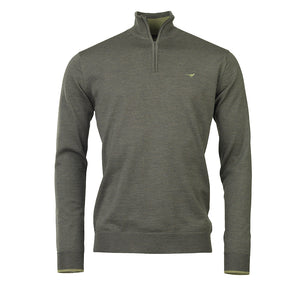 Norfolk Zip Sweater - forest