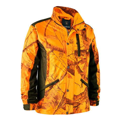 Explore jacket - edge orange camouflage