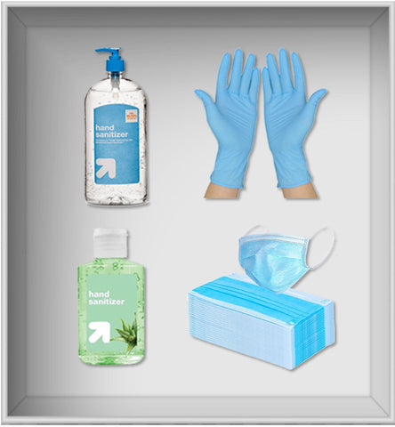 FS Kit-I (3 Ply Masks, Sanitizer Bottles, Gloves)
