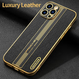 Luxury Designed Shockproof Genuine Leather Case For Apple iPhone 12 Pro Max Mini