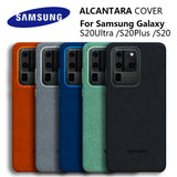 100% Original Genuine Leather Alcantara Cover Full Protect Case for Samsung S20 Series