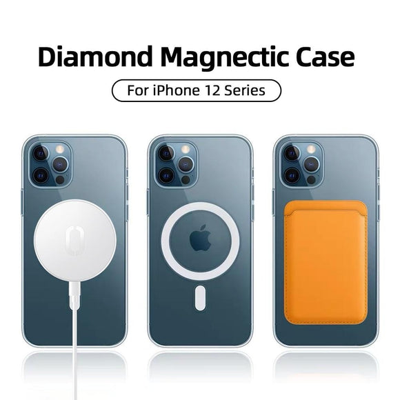 Wireless Charging Shockproof Full Protection Magnectic Magsafe Case For iPhone 12 Pro Max 12 mini