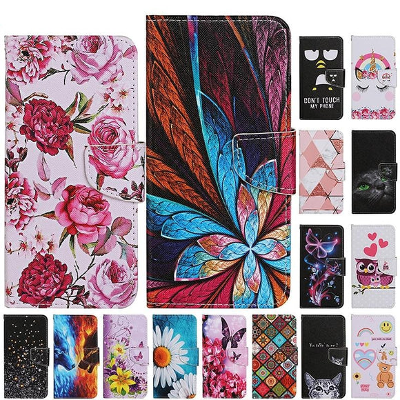 Cute Animal PU Leather Flip Case For Samsung Galaxy S20 S10 Series