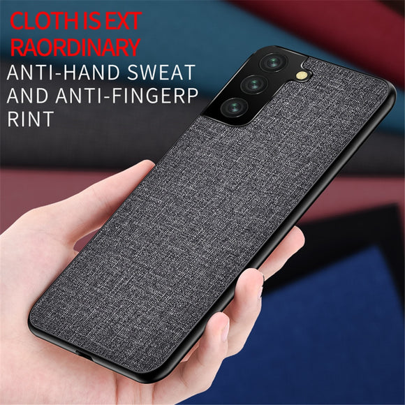 Fabric Cloth Slim Soft TPU Bumper Protective Back Cover Case For Samsung Galaxy S21 S20 Note 20 Series