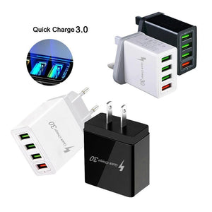 3.0 USB Quick Charge EU US Wall Mobile Phone Charger Adapter for iPhone Xiaomi Samsung Huawei