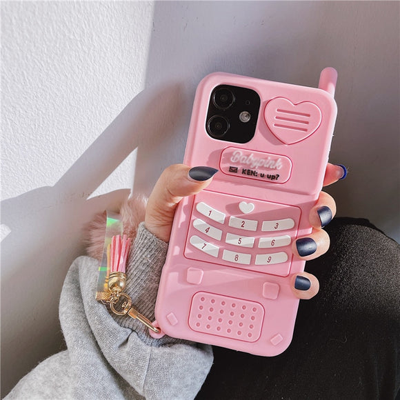 Cute Pink Love Heart Soft Silicone Phone Case For iPhone 12 & 11 Series