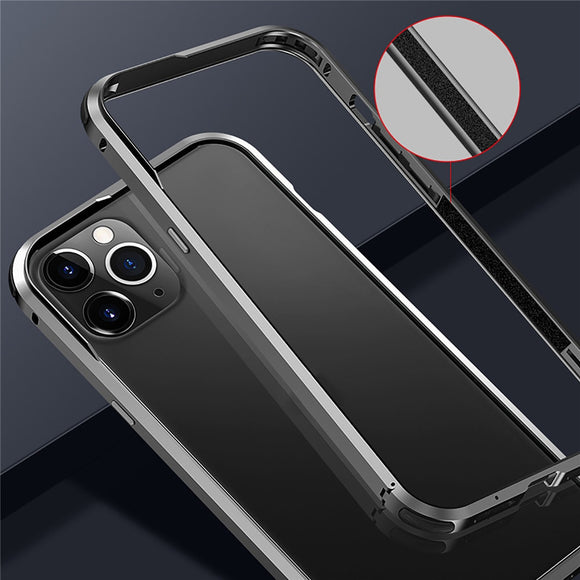 Cooling Metal Frame Bumper Transparent Protective Case for iPhone 12 Pro Max