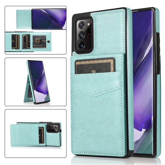 Vertical Flip Leather Multi Card Slot Wallet Case For Samsung Galaxy S21 S20 Note 20 Series