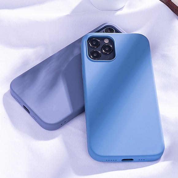 Liquid Silicone Square Case For iPhone 12 Series