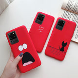 High Quality TPU Soft Silicone Case Cute Painting For Samsung S20