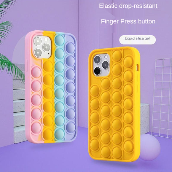 Relieve Stress Cute Fashion Rainbow Colorful Silicone Soft Case For iPhone 12 11 Series
