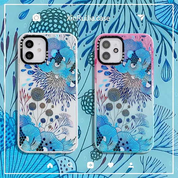 Dandelion Flower Seaweed Soft Silicon Phone Case For apple iPhone 12 11 XS Series