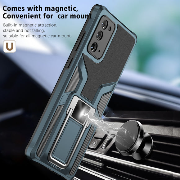 Armor Shockproof Luxury Magnetic Metal Ring Phone Cover For Samsung Galaxy S21 S20 Note 20