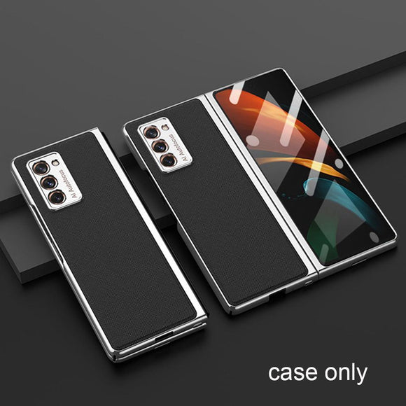 Luxury Plating Weave Matte 360 Full Protector Case For Samsung Galaxy Z Fold 2