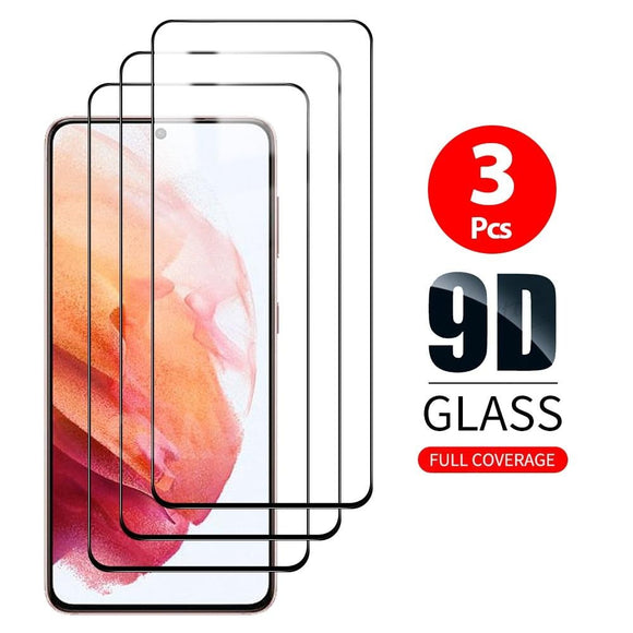 3Pcs 9D Curved Tempered Glass For Samsung Galaxy S21 Ultra 5G