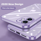 Luxury Classic Plating Frame Transparent Silicone Phone Case for IPhone 12 11 Pro Max