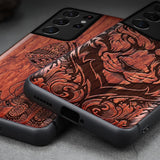 Carveit 3D Carved Wooden Case For Samsung Galaxy S21 Ultra Plus
