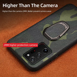 Genuine Camouflage Leather Magnetic Cover Case For Samsung Galaxy Note 20 S20 Series