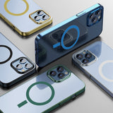 Transparent Thin Magnetic Magsafe Charger Protective Case For iPhone 12 Series