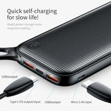 20000mAh Mini Power Bank For iPhone MacBook Samsung USB PD Fast Charging + Dual QC3.0 Quick Charger