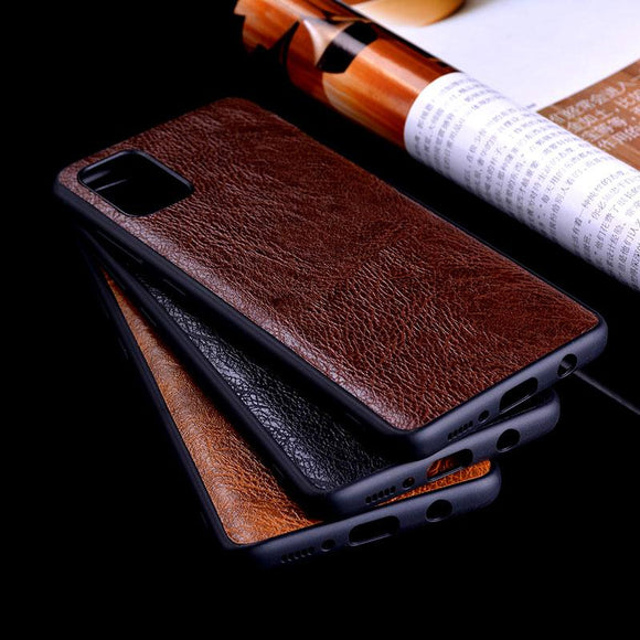 Luxury Vintage Leather Tree Pattern Skin Soft TPU Anti-knock Case for Samsung Note 9 S20 Plus Ultra