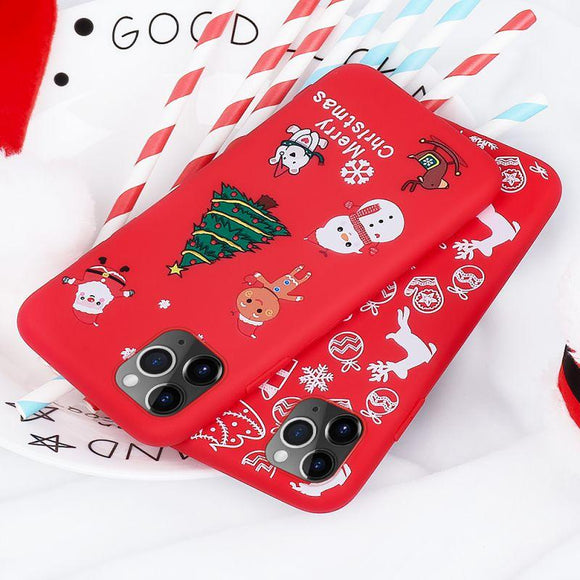Christmas New Year Soft Silicone Case For iPhone 11 Pro Max