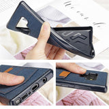 Jeans Cloth Pocket Case For Samsung Galaxy Note 9