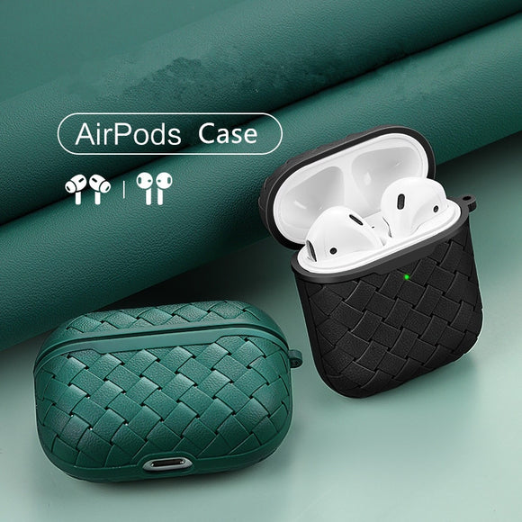 Luxury PU Silicone Protective Leather Case for Airpods