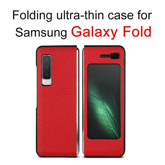 Full Protection Matte Leather Luxury Protective Cover Case For Samsung Galaxy Fold 360