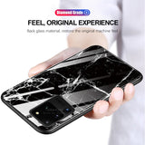 Fashion Luxury Tempered Glass Waterproof Case For Samsung S20 Series